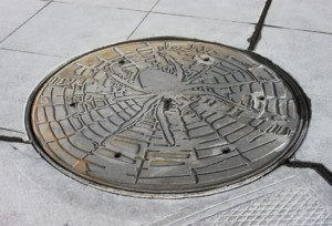 """Spider"" utility cover"